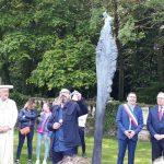 inauguration du jardin à la française avec la sculpture le printemps