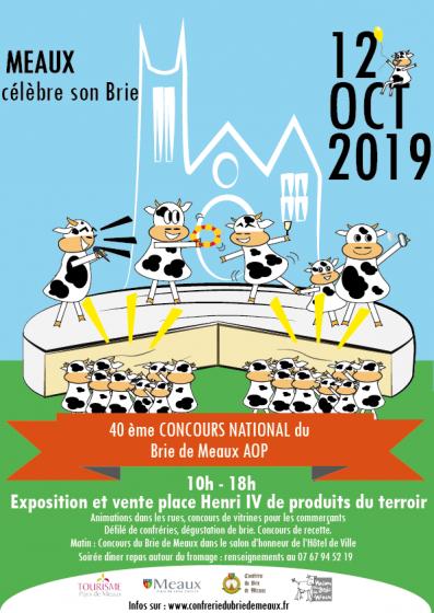 samedi 12octobre 2019 Meaux fête son BRIE 40 eme concours du brie de Meaux!